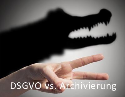 Bild DSGVO vs. Archivierung